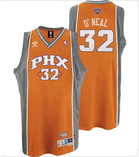 NEW SHAQUILLE ONEIL PHOENIX SUNS ORANGE REEBOK JERSEY MENS MEDIUM
