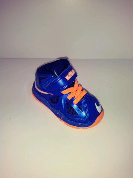 NEW NIKE LEBRON 10 Toddler NEW YORK KNICKS color-way LAST ONE 5C