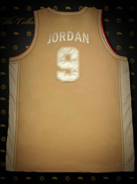 NIKE MICHAEL JORDAN 92 OLYMPIC DREAM TEAM JERSEY SPECIAL EDITION GOLD XXL NUMBERED ONLY 369 MADE, #24 of 369