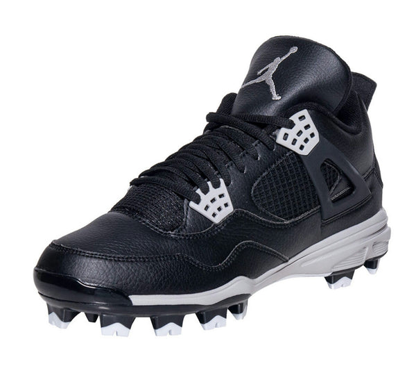 AIR JORDAN RETRO 4 MOLDED OREO BASEBALL CLEATS BLACK