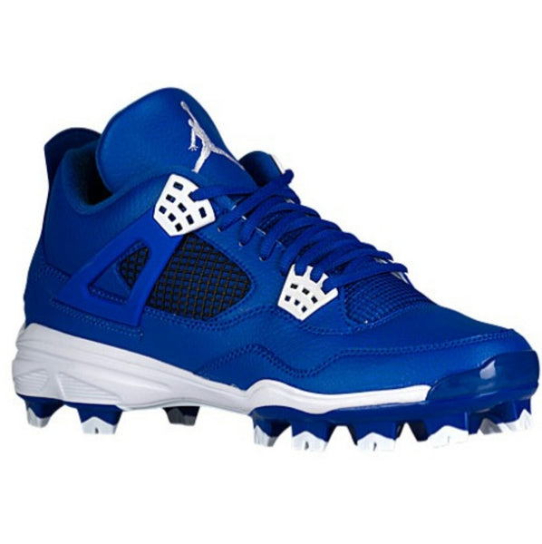 AIR JORDAN RETRO 4 MOLDED BASEBALL CLEATS BLUE