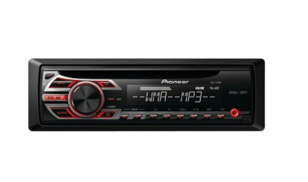 PIONEER 200 WATT CD PLAYER W AUX, REMOTE CONTROL DEH-150MP