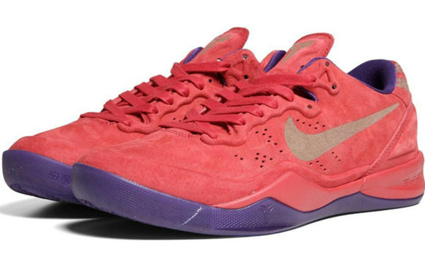 KOBE ZOOM 8 EXT RED SUEDE YEAR OF THE SNAKE LAST ONE 8.5