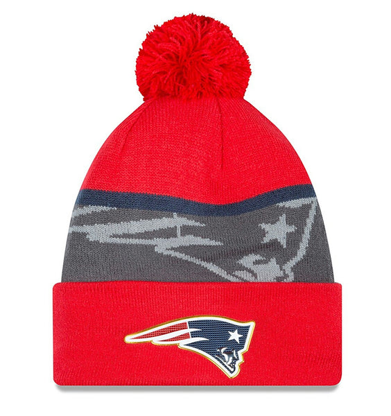 NEW ERA NEW ENGLAND PATRIOTS GOLD FOIL KNIT WINTER HAT