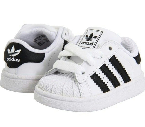 ADIDAS CLASSIC SUPER STAR SHELL WHITE BLACK TODDLER