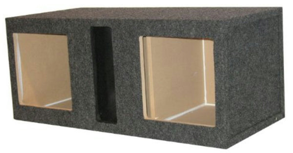 "12"" DUAL VENTED KICKER L 7 SQUARE MDF SUBWOOFER BOX"