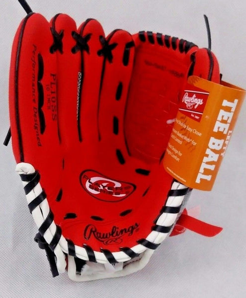 "RAWLINGS TEE BALL 10"" RIGHT HAND GLOVE FOR LEFT HAND THROWER"
