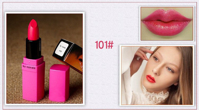 BY NANDA 2016 New Lipstick Matte Waterproof Magic Makeup Nude Lip Gloss 16 Colors Available Lip