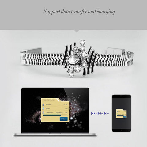 USB Charging + Sync Data Cable Bracelet For All iPhone Devices