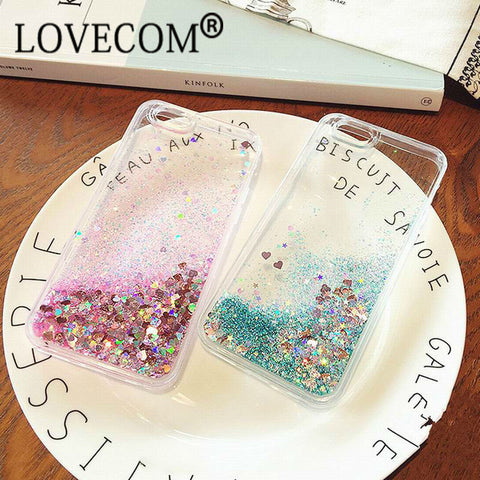 Glitter Dynamic Liquid Cover Case For iPhone 5, 5S, SE, 6, 6S Plus, 7, 7 Plus