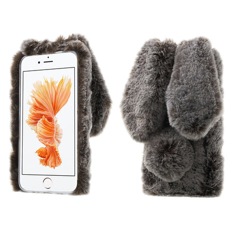 Bunny Cover 3D Cute Rabbit Warm Fur Case For For iPhone 5, 5S, SE, 6, 6S Plus, 7, 7 Plus, Samsung S7, S7 Edge, Sony Xperia XA, Huawei P9 Lite