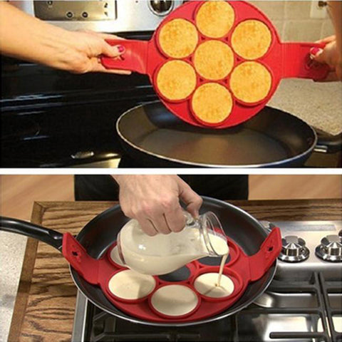 Flippin' Fantastic Makes and Flips 7 Pancakes at a Time