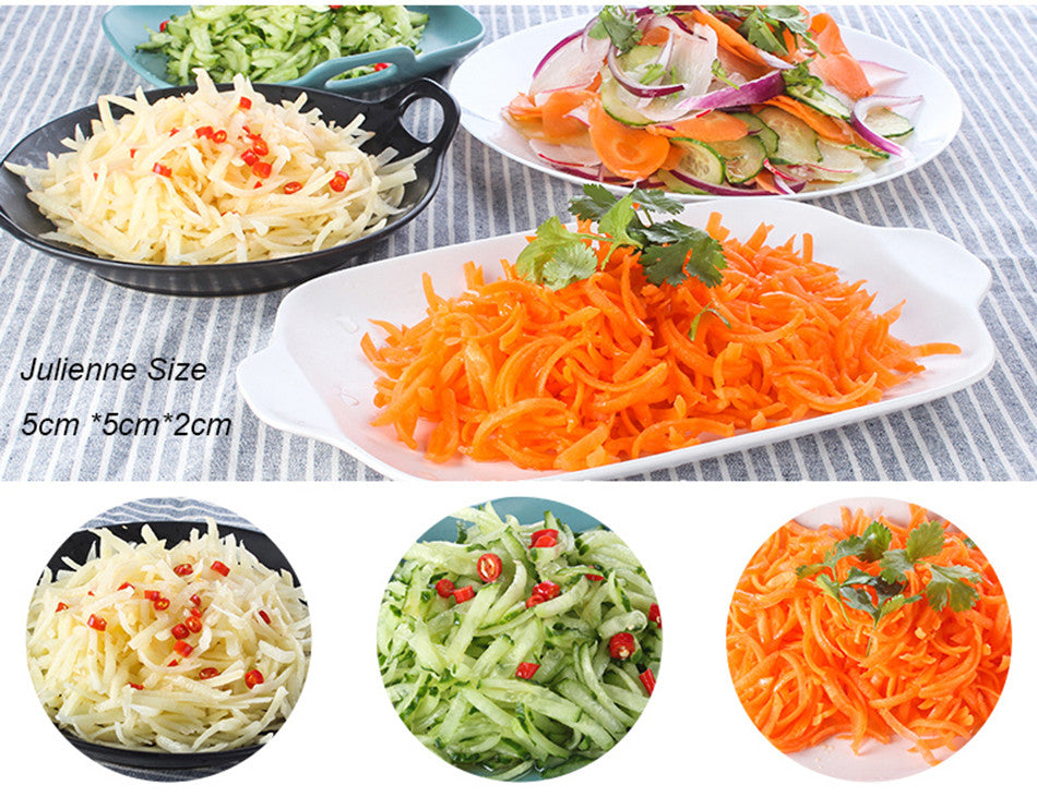 3 in 1 Round Mandoline Vegetable Slicer Cutter