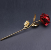 Image of 24K Gold Plated Rose With Custom Name On Stem For Valentine's Day