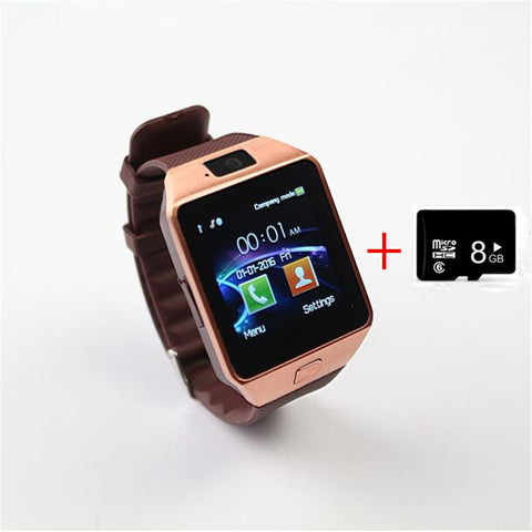 Wearable Devices DZ09 bluetooth smart watch for android phone support SMI/TF men women sport wristwatch