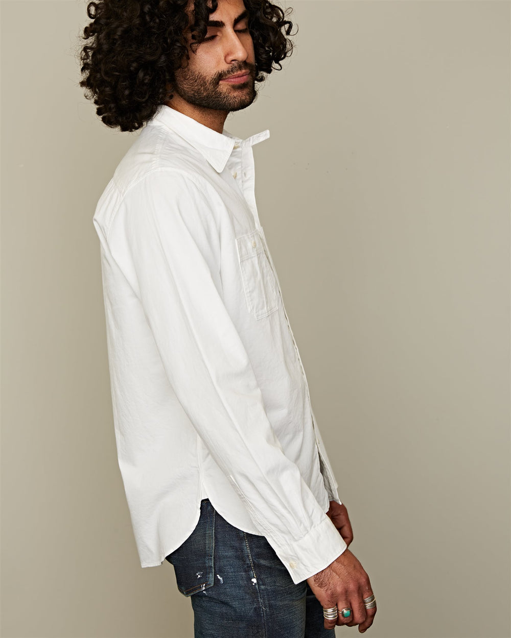 1910 SHIRT GIZA TWILL WHITE