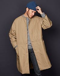 NO COLLAR COAT KHAKI / CAMO