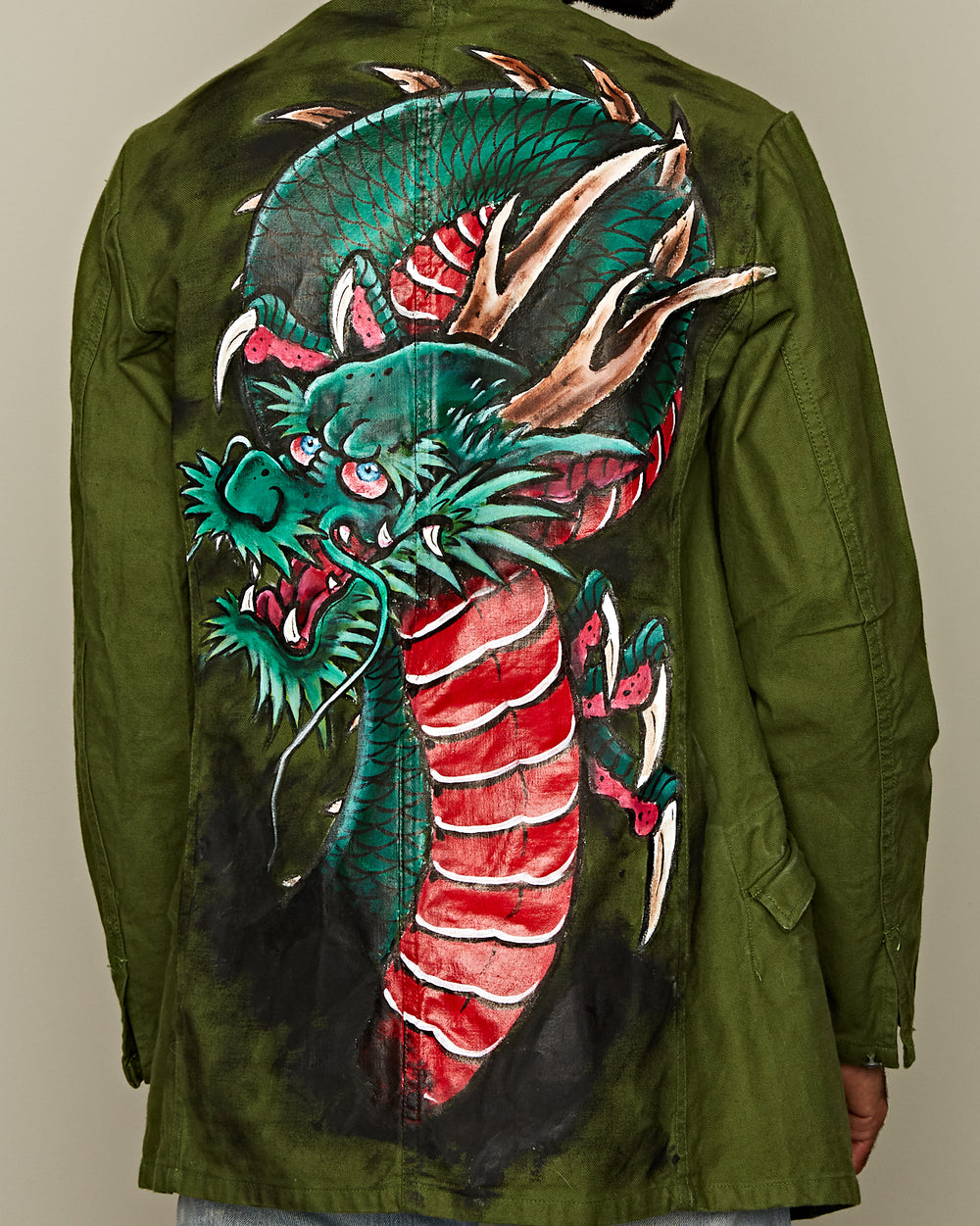"SWEDISH ARMY JACKET ""DRAGON"" BY TYCHO VELDHOEN"