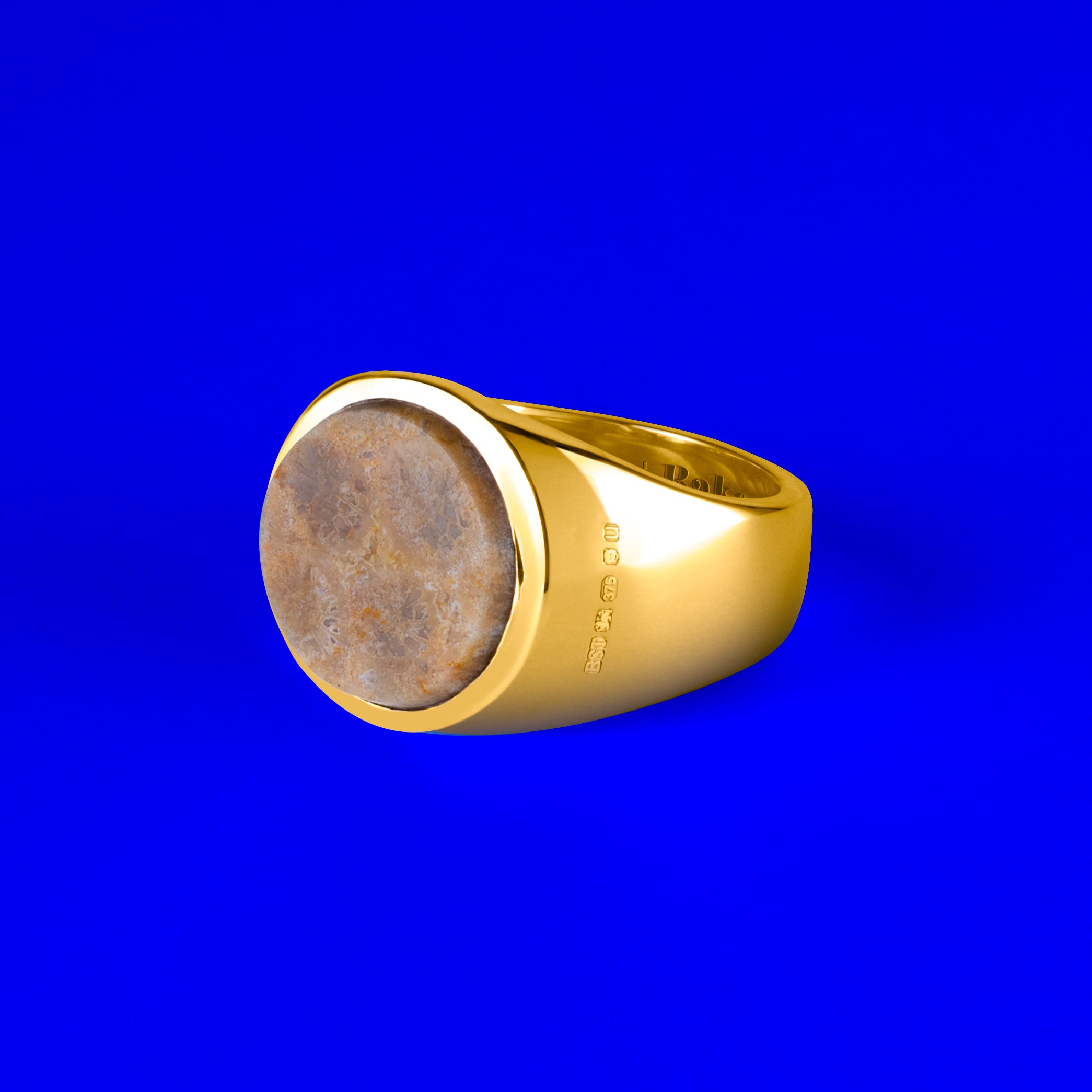 9ct Gold Rounded Signet Ring