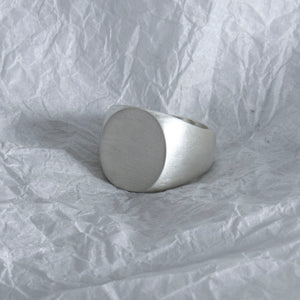 20. Ovaled Ring SIZE L Brushed Finish