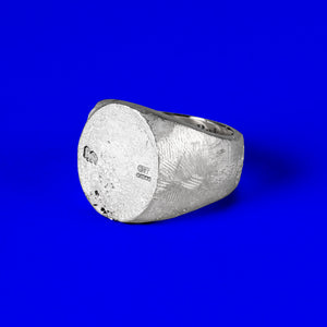 Brutal Ovaled Signet Ring Sterling Silver