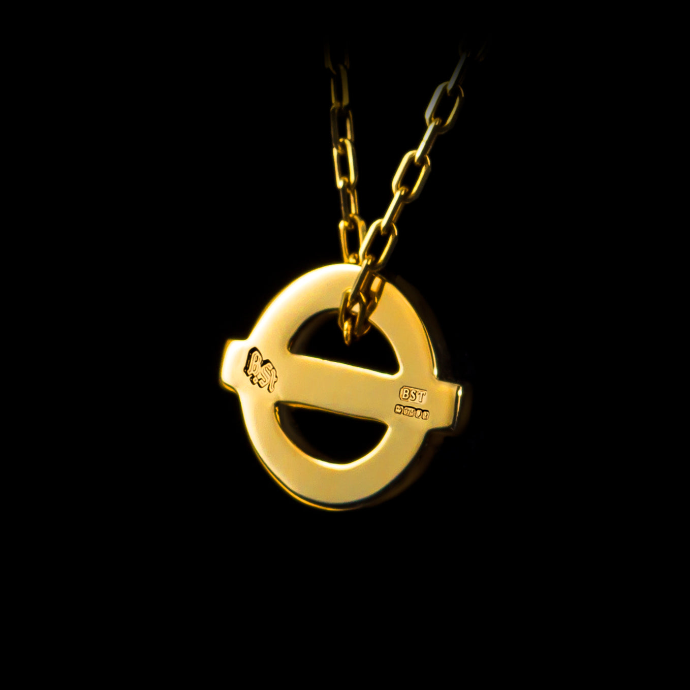 9ct Solid Gold Baker St. Pendant