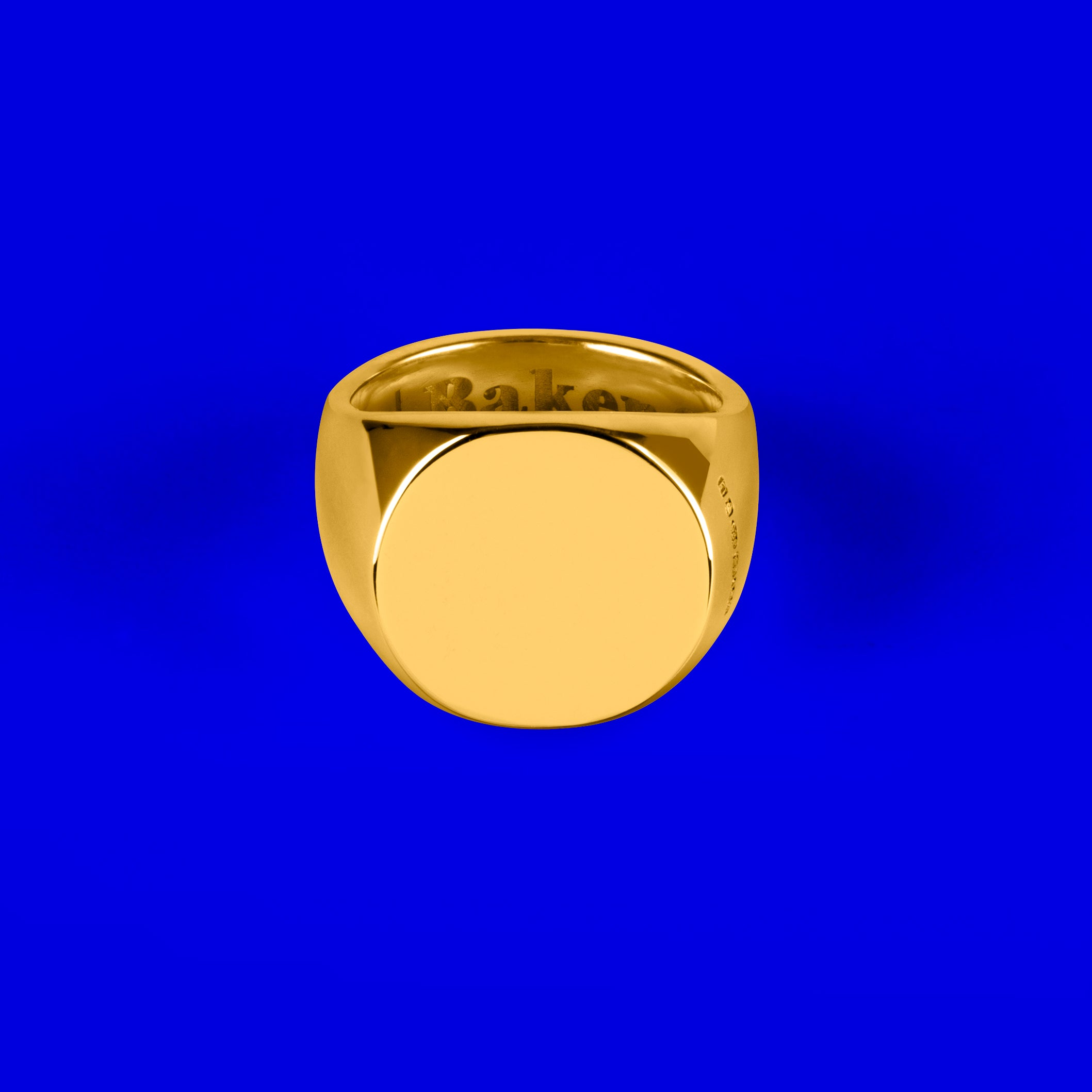 9ct Gold Ovaled Signet Ring