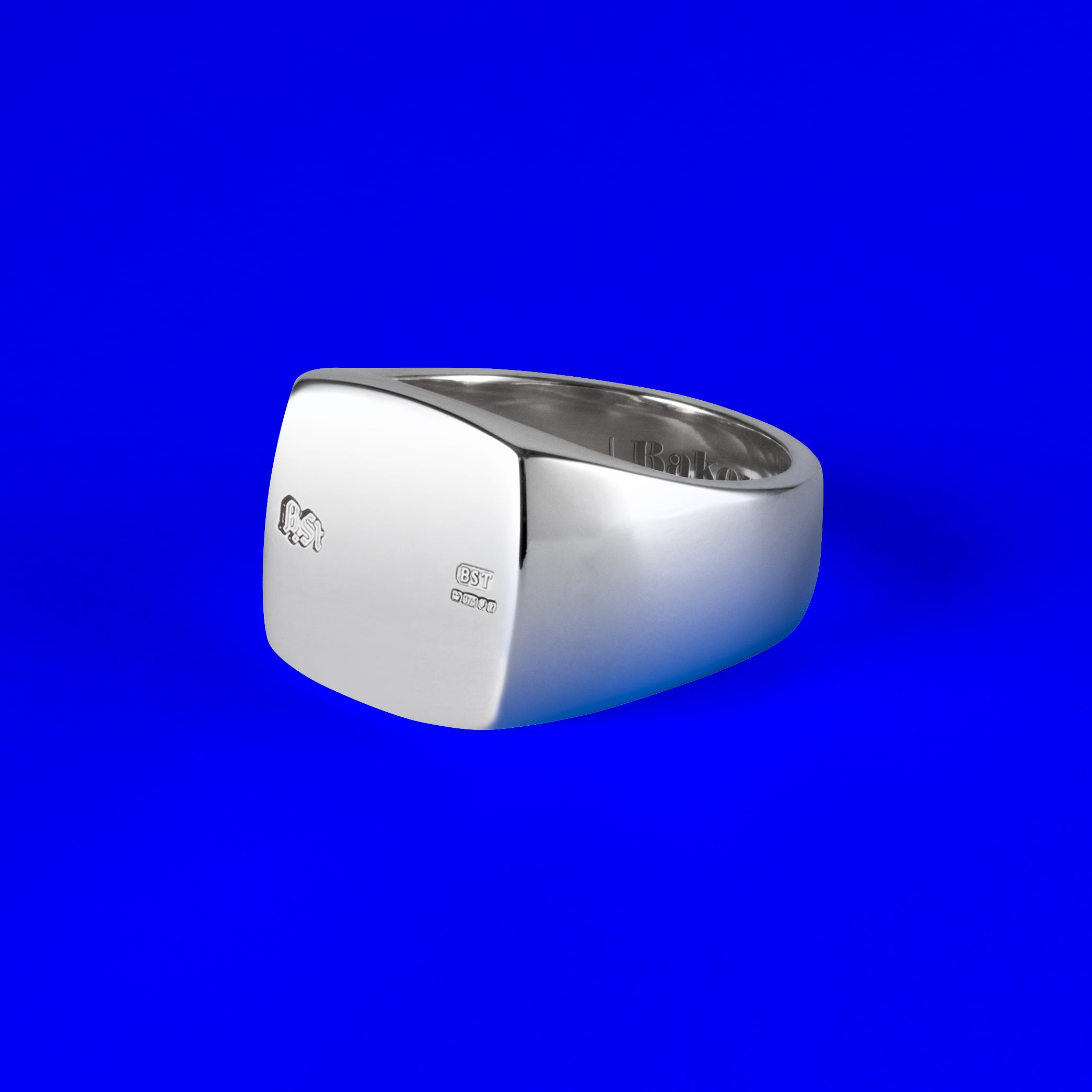 925 Sterling Silver Squared Signet Ring