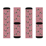 Custom Dog Face Socks - Pink