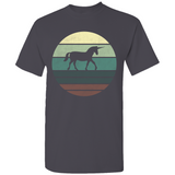 Unicorn Retro Sunset Silhouette T-Shirt