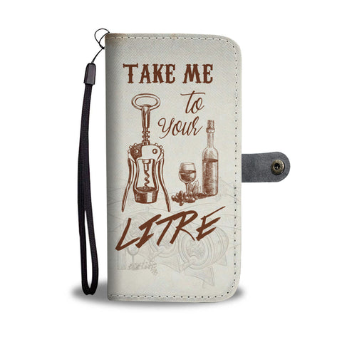Wine Lover Wallet Phone Case