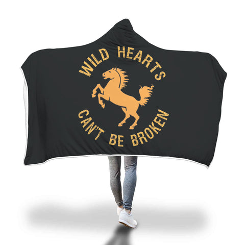 Wild Hearts Hooded Blanket - Mix Web Shop