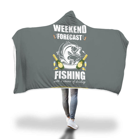 Weekend Fishing Hooded Blanket