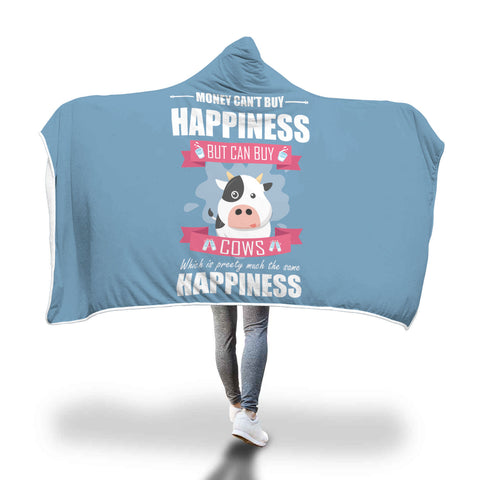 Cow Happiness Hooded Blanket