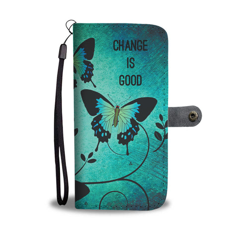 Butterfly Change Wallet Phone Case