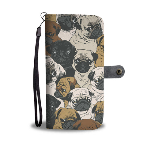 Awesome Pugs Wallet Phone Case