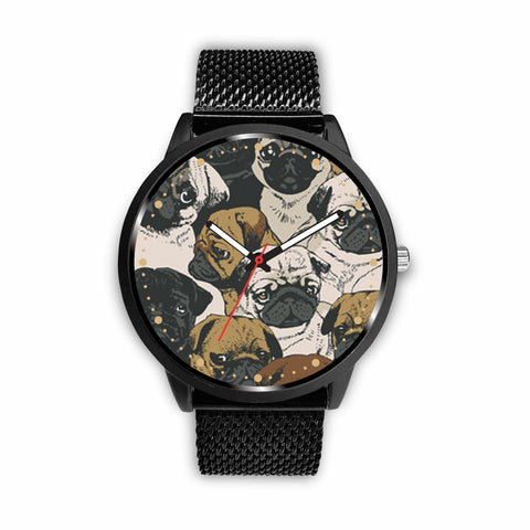 Awesome Pugs Custom-Designed Watch