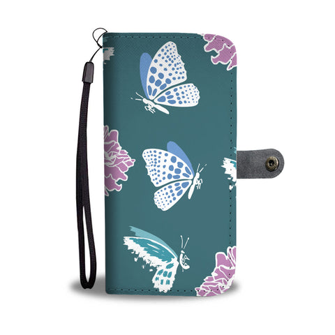 Blue Butterflies Wallet Phone Case