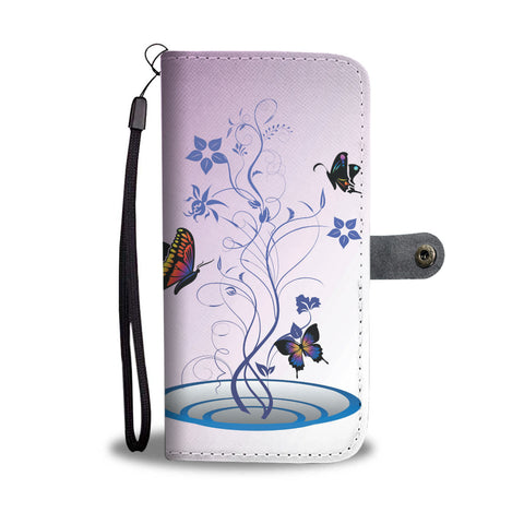 Pink Butterflies Wallet Phone Case