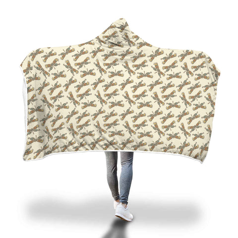 Dragonflies Hooded Blanket