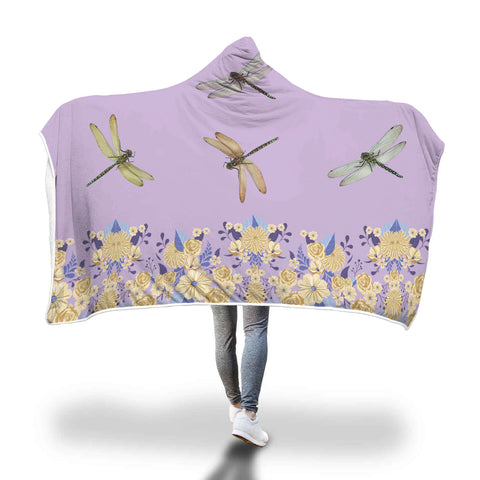 Dragonfly Lover Hooded Blanket