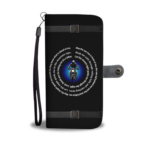 Biker Prayer Wallet Phone Case
