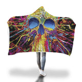 Psychedelic Skull Hooded Blanket - Mix Web Shop