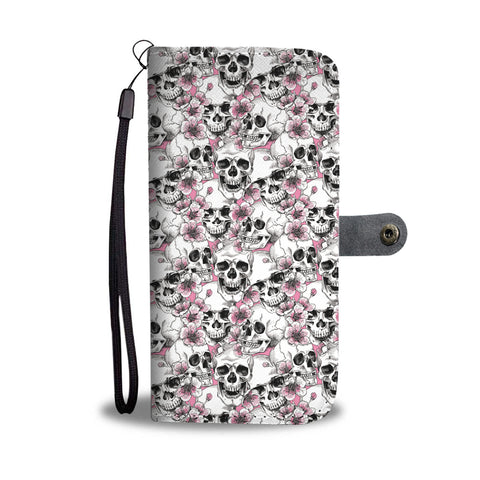 Pink Skulls Wallet Phone Case - Mix Web Shop