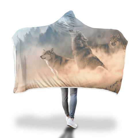 Wolf Pack Hooded Blanket - Mix Web Shop