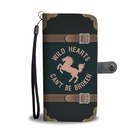 Wild Hearts Horse Wallet Phone Case - Mix Web Shop