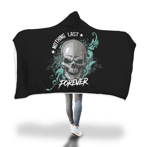 Skull Forever Hooded Blanket - Mix Web Shop