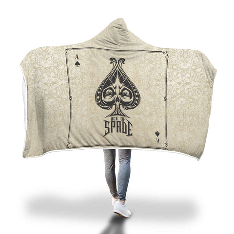 Ace of Spade Hooded Blanket - Mix Web Shop