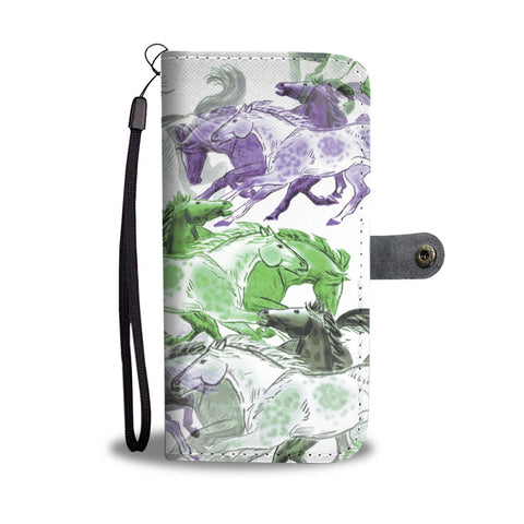 Horse Stampede Wallet Phone case - Mix Web Shop