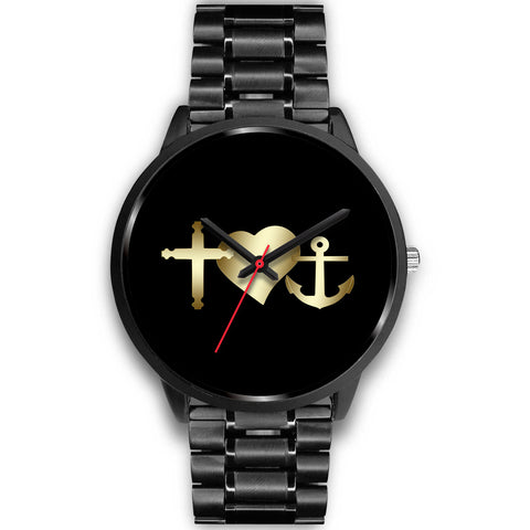 Cross Anchor Heart Custom-Designed Watch